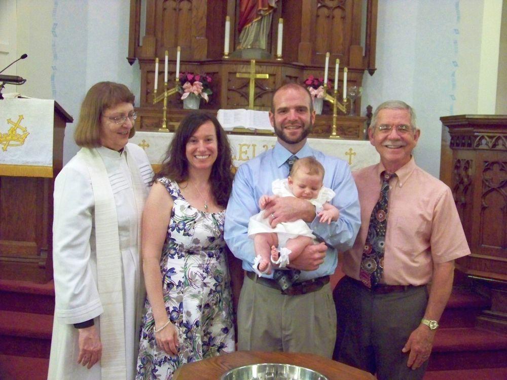 Chloe Kay Bennett baptism, June 2014.